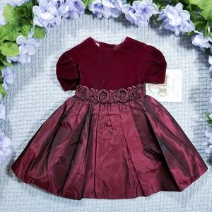 Jessica Ann vintage burgundy velour/taffeta dress